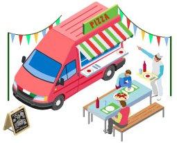Carte Des Tournes Camions Pizza Ambulants Dans Les Villes Et
